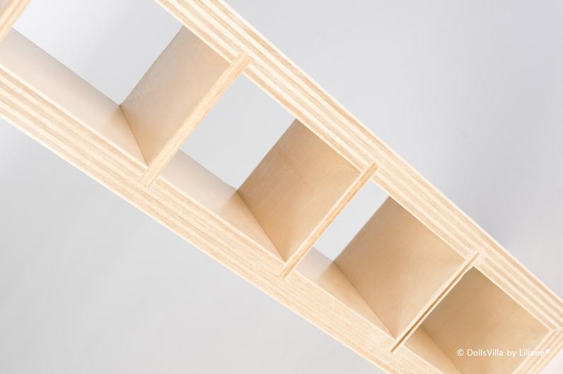 Bookcase 2 DollsVilla By Liliane On Wheels For Dolls Of 30 Centimeter Design
